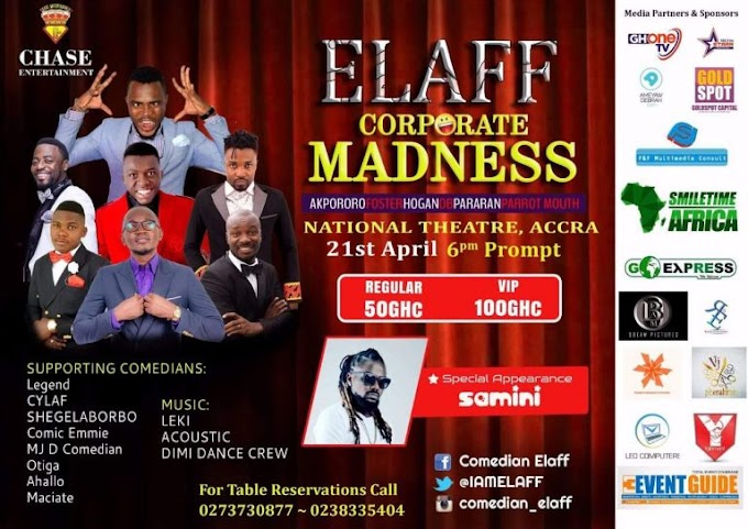 Akpororo, Samini and more for Elaff Corporate Madness