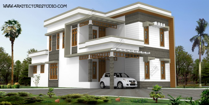 3000 sq ft Modern Contemporary Calicut Home Design