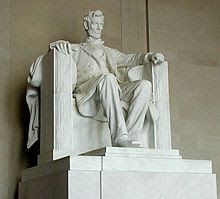 Abraham Lincoln Sculpture by Daniel Chester French who selected Tiffany Fellow Francis J. Quirk