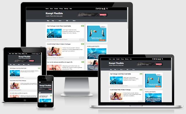 Kompi Flexible Premium Blogger Template Terbaru Gratis