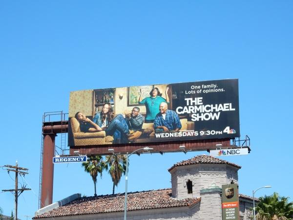 Carmichael Show series premiere billboard