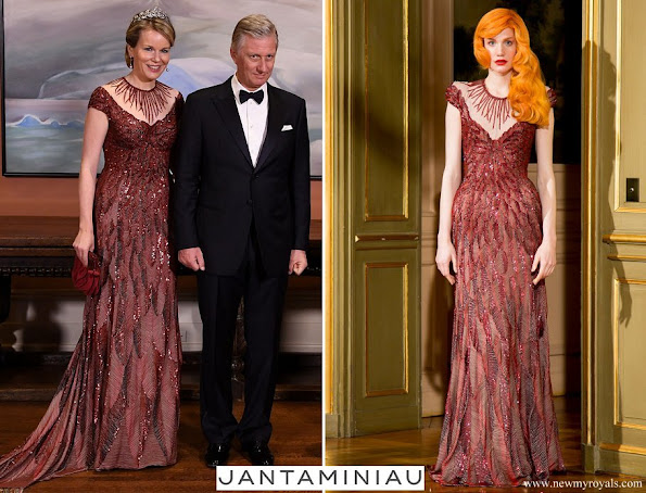 Queen Mathilde wore Jantaminiau Gown Paris Haute Couture 2015