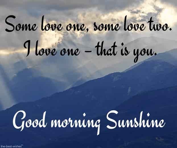 good morning sunshine love message
