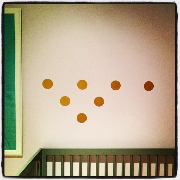 How to create a polka dot wall quickly emmerson and for How to make polka dots on wall
