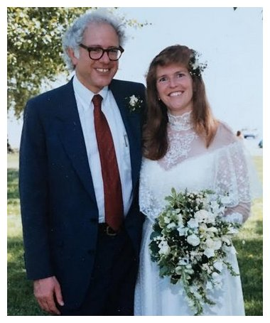 Bernie and Jane Sanders' wedding day.