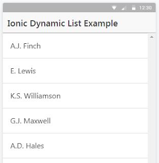 dynamic list