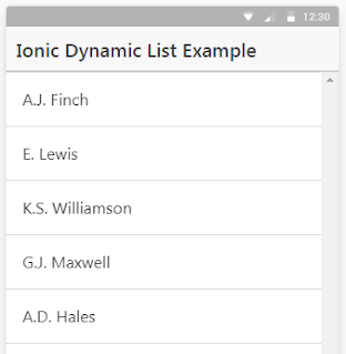 Dynamic List Items in an Ionic/AngularJS App