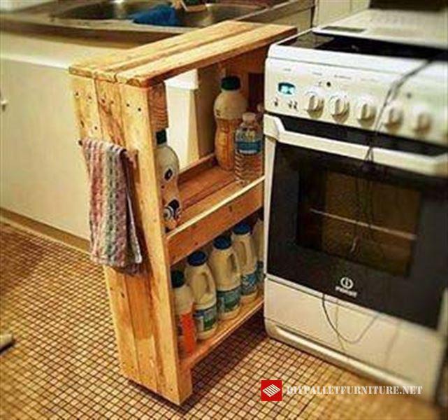 Mueble auxiliar de cocina for Mueble hecho con palet