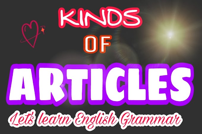 Kinds Of Articles