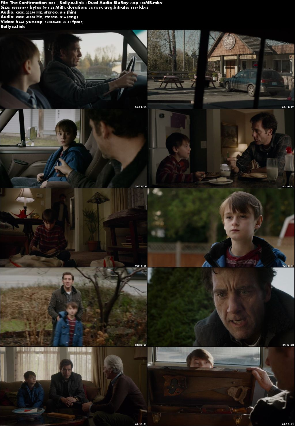 The Confirmation 2016 BRRip 800Mb Hindi Dual Audio 720p Download