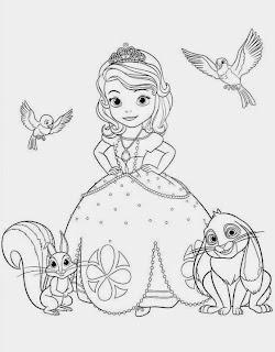 Ausmalbilder Sofia die Erste - Auf einmal Prinzessin