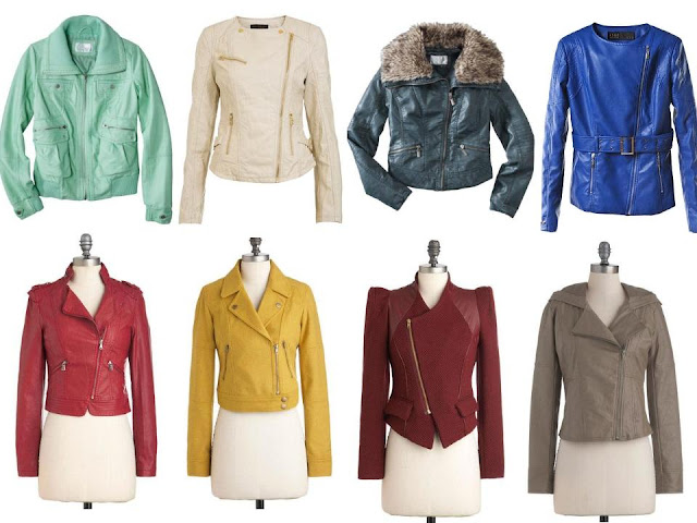 {Haute Trend} Leather Jacket Rainbow