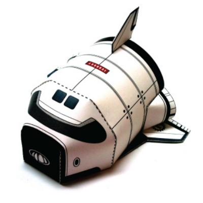 Super Deformed Space Shuttle Paper Toy