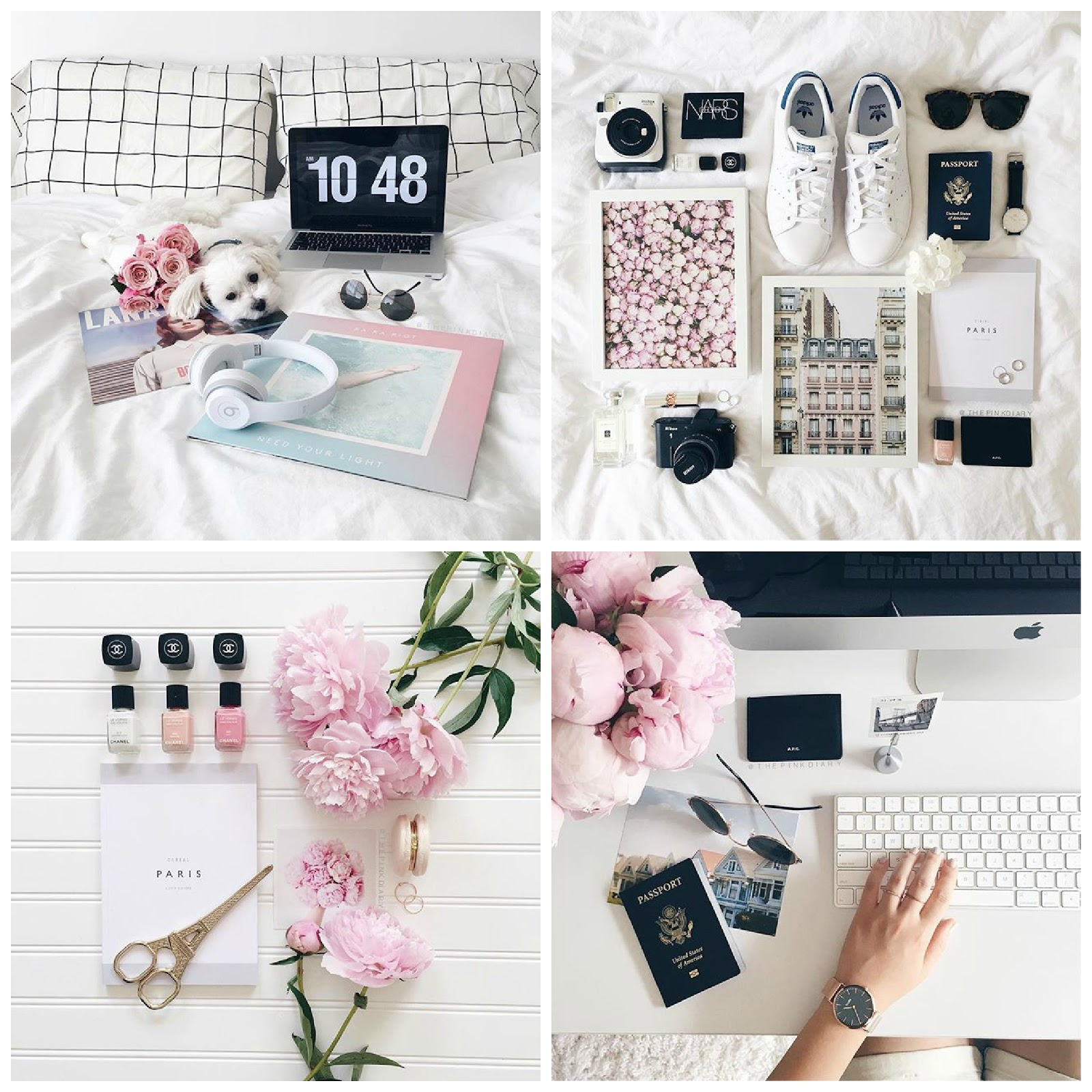 The Pink Diary   Instagram   Flatlay