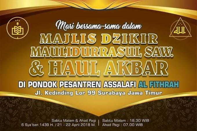 Info Haul: Haul Akbar di Ponpes Assalafi Al Fithrah Kedinding 2018
