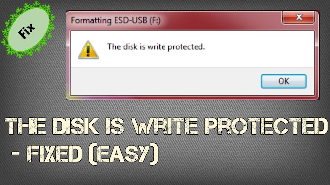 How to Remove Disk Write Protected Error