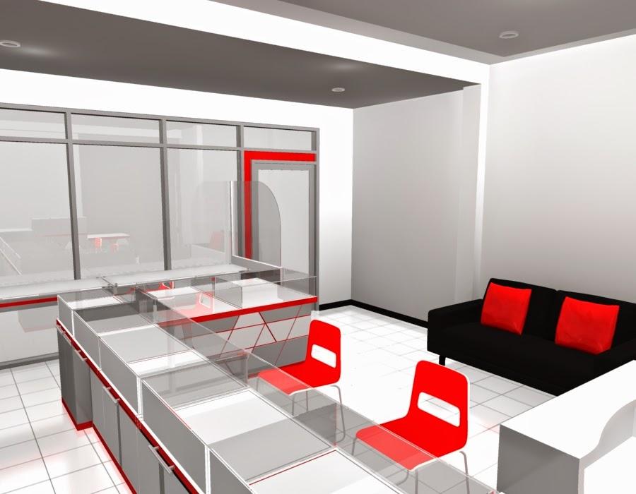 desain 3d Etalase Kacamata dan Interior Untuk Optik - Semarang 08