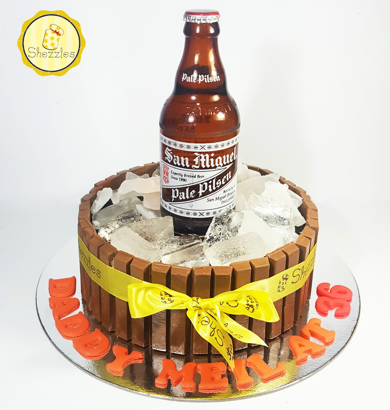 Stupendous Shezzles Cakes And Pastries Kit Kat Beer Cake Funny Birthday Cards Online Elaedamsfinfo