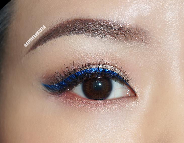블루 아이라이너 메이크업: 닉스 익스트림 블루 아이라이너 & 컬러팝 Solow 립스틱