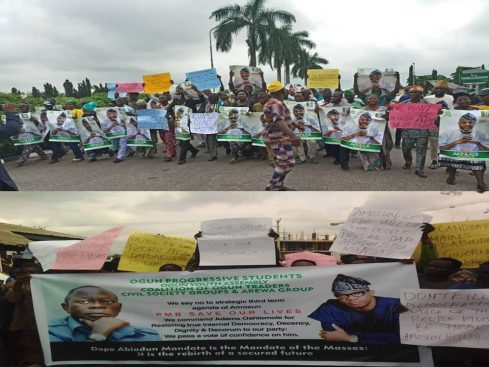 Counter protests in Ogun state over Akinlade, Abiodun's candidature