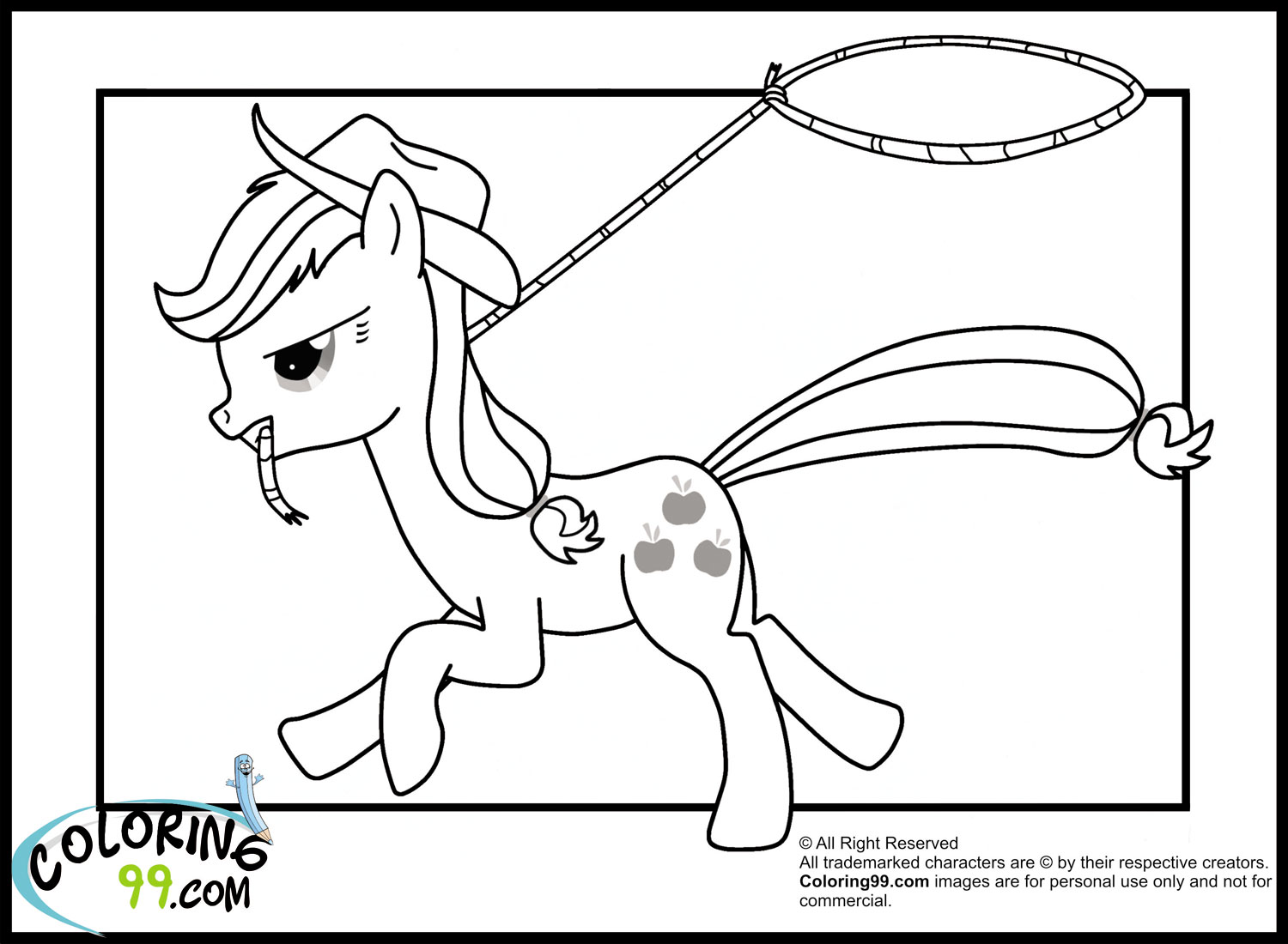 mlp coloring pages applejack - photo#36