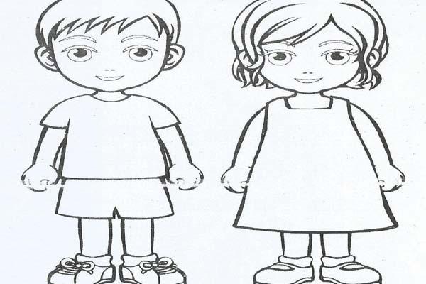 Mirzan Blog S Paling Inspiratif Gambar Anak Laki Laki Dan Perempuan Kartun Tema Diriku