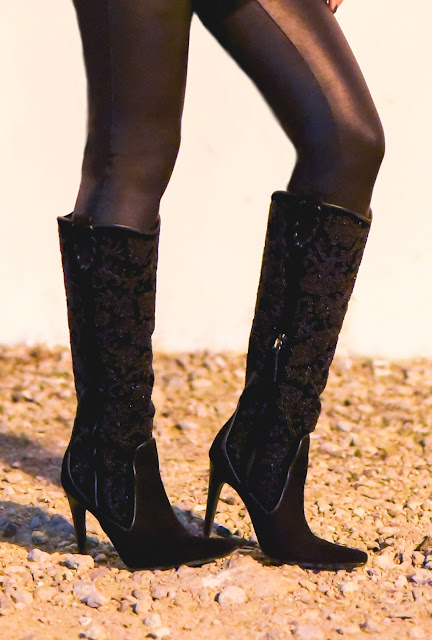Joanna Joy A Stylish Love Story fashion blog petite fashion blogger California fashion blogger Spanx black faux leather leggings Donald J. Pliner black suede beaded embroidered stiletto boots