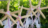 Christening favors with starfish