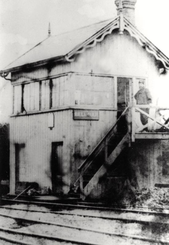 The Bell Bar signal box, possibly with Henry Town in view - 1880s  Image by M Lovall from the Images of North Mymms Collection