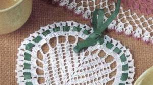 Patrón de corazón tejido al crochet