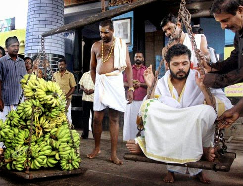 Sreesanth in South India outfit while wedding rituals