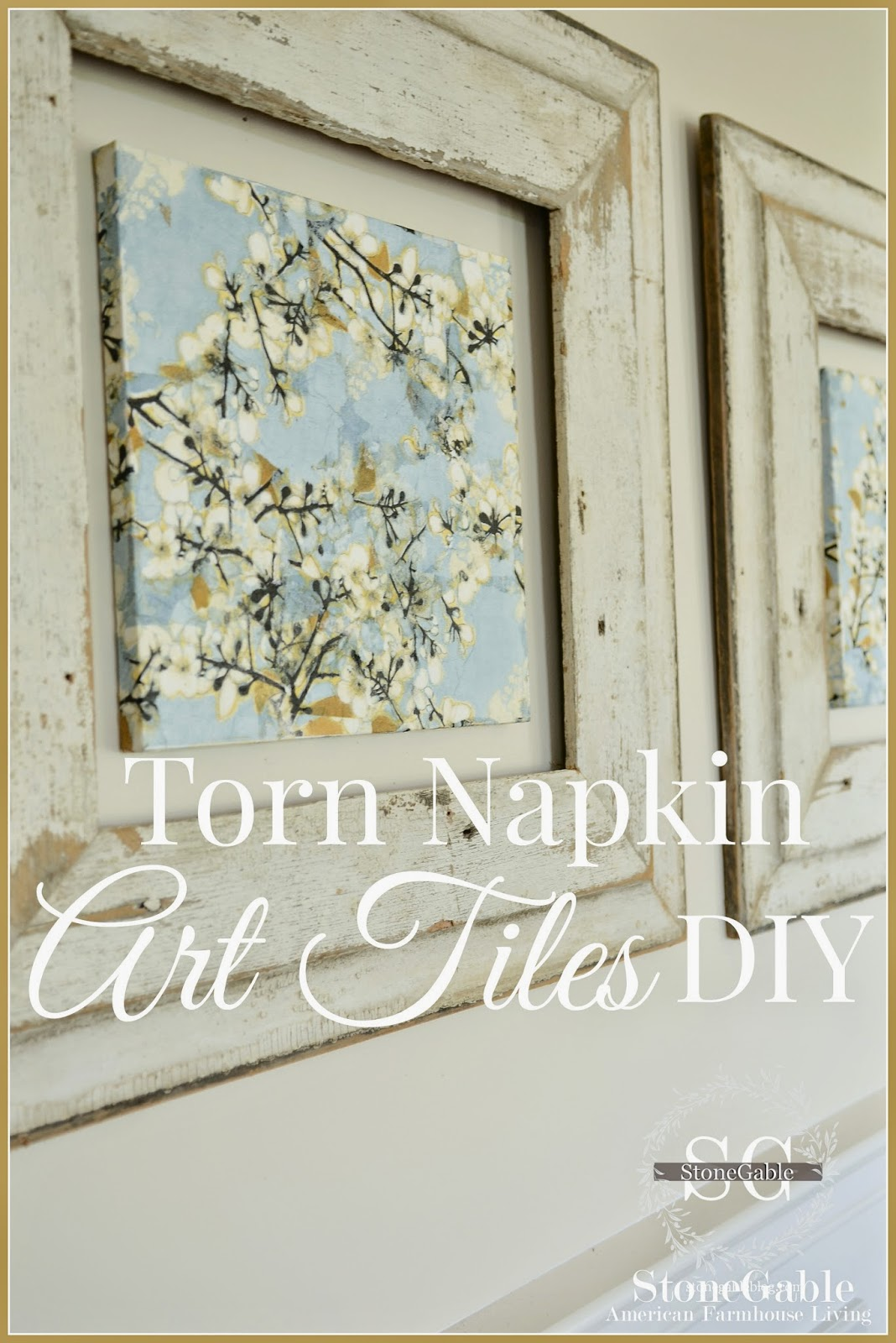 Torn napkin art tiles diy stonegable this is one of those rare projects that i could do over and over and over again its easy and artistic and fun fun fun even if you are not crafty this jeuxipadfo Image collections