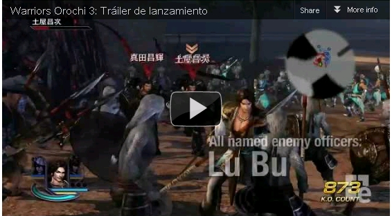 Trailer del Juego Warriors Orochi 3 2012 720p HD
