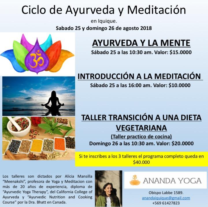 Ciclo de Ayurveda y Meditación en Iquique. 74819a0747c0
