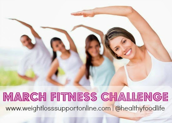Join the March Fitness Challenge! It's self paced, so it's never too late to get started. Take Skinny Fiber and exercise to gain muscle while losing weight!