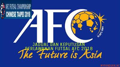 Jadual dan Keputusan Perlawanan Kejohanan Futsal AFC 2018
