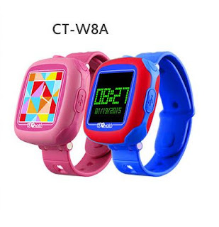 Cheertone Kids Smart Watch CT-W8A - a pink and blue watch