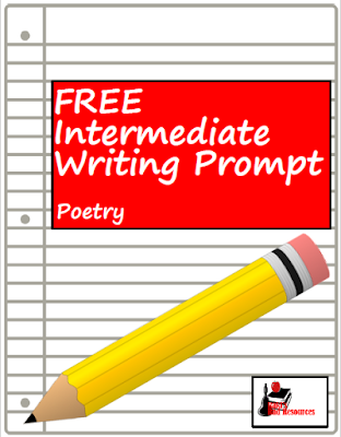 Free poetry writing prompt to connect poetry with the writing process - from Raki's Rad Resources.