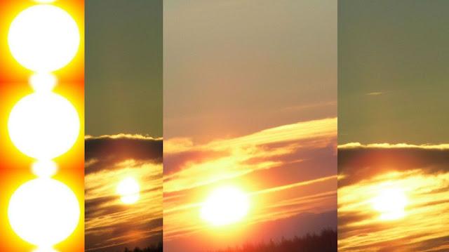 Солнце закат 1 января 2016 Россия Сияние Солнца Земли Солнце 2015 и 2016 Солнечный закат Солнечное Гало Солнечные радужные столбы солнечные столбы