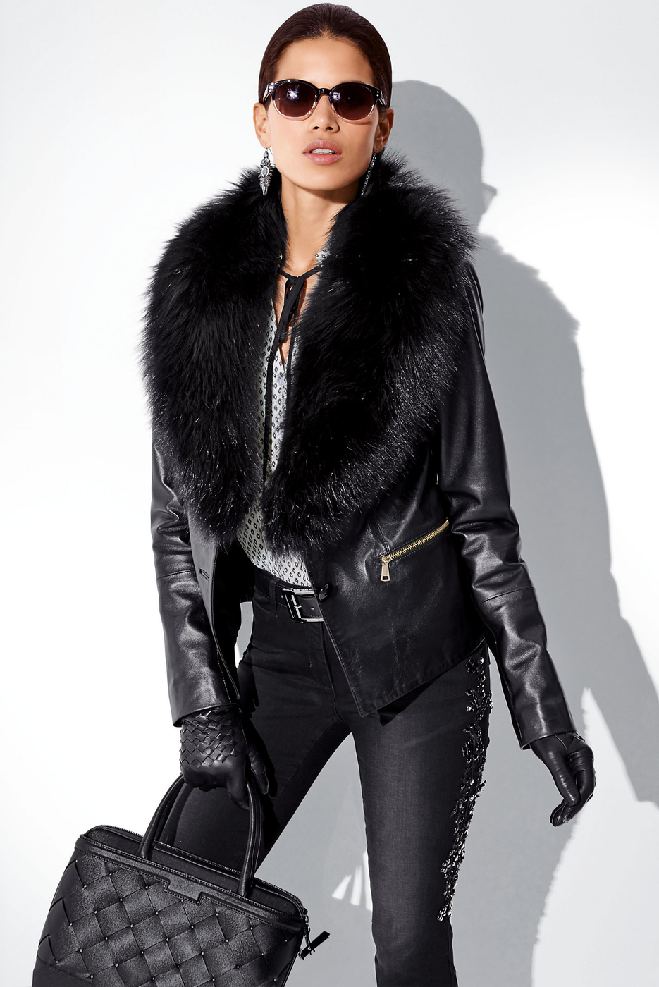 Madeleine Black Leather Jacket