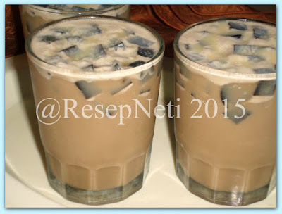 cappucino ice grass jelly recipe at kusNeti kitchen 2015