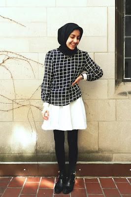 style hijab dengan legging