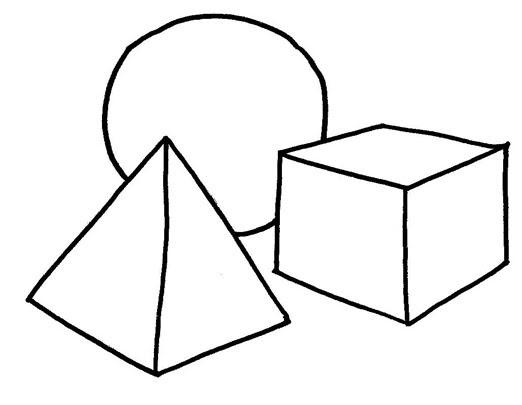 Desenhos De Figuras Geométricas Para Pintar. Desenho