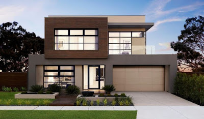 modern house front designs for double storey house
