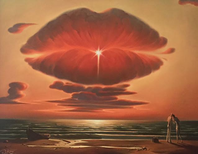 Quadro surrealista Vladimir Kush, Kiss