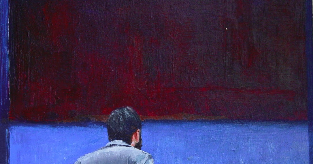 Man In Blue Painting