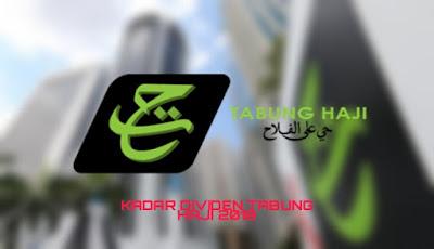 Kadar Bayaran Dividen Tabung Haji 2018/2019