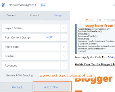 How to Add Instagram Widget to Blogger with Pictures 5