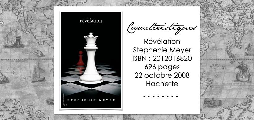 Couverture du livre Révélation de Stephenie Meyer