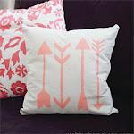 DIY Stenciled Arrow Pillow